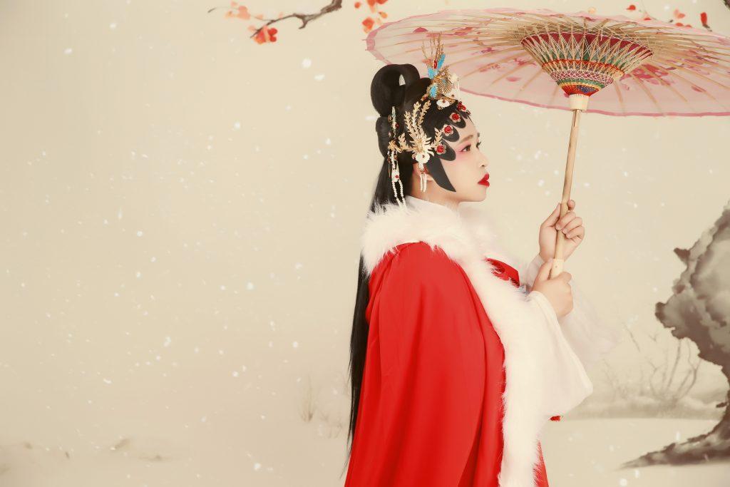 古装写真之宝琴立雪
